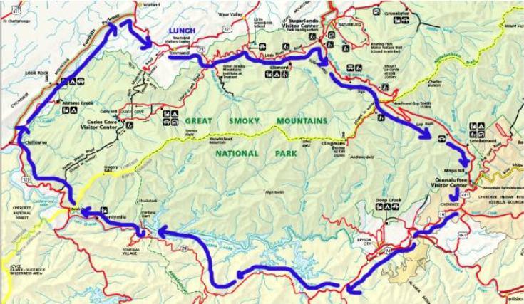 MINIs On The Dragon - Smokey Mountain Scenic Drive